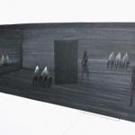 97.-Showroom-2003-disegno-preparatorio-per-il-capo-Dancing-on-the-Verge-Il-coraggio-cm-70x100