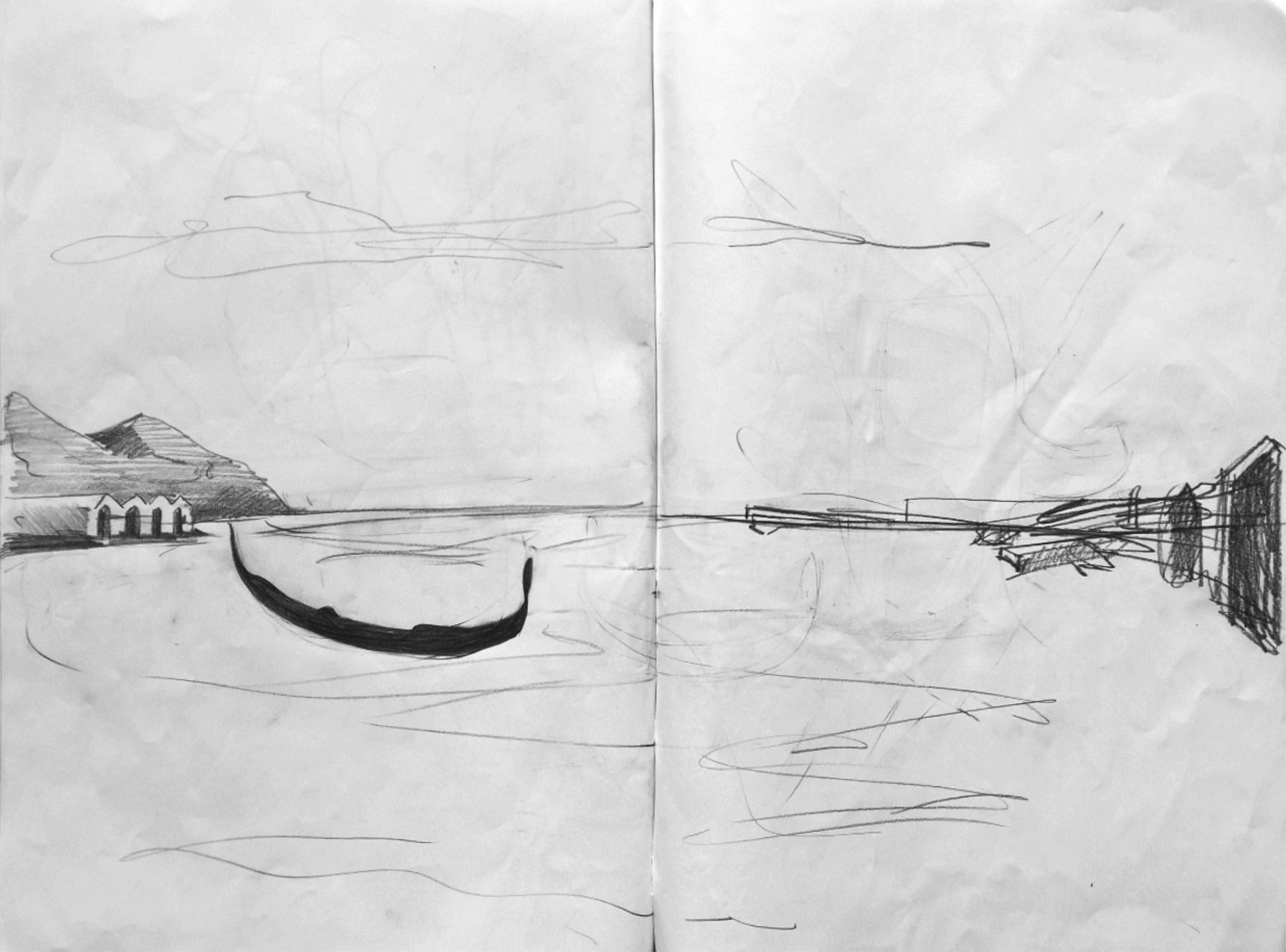 Storyboard per il varo IX, 2017, grafite su carta, cm 42x59,4