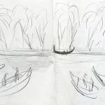 Storyboard per il varo VII, grafite su carta, 42 x 59,4 cm, 2017